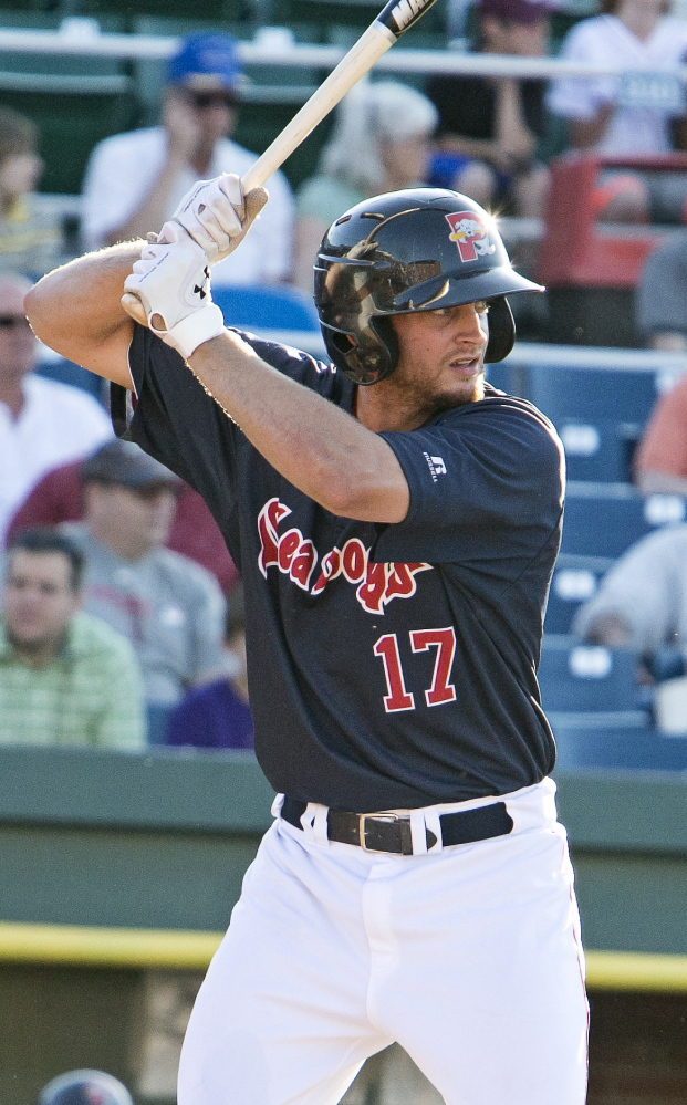 Jonathan Roof of the Portland Sea Dogs is part of a close baseball-playing family that includes his father and uncle reaching the major leagues.