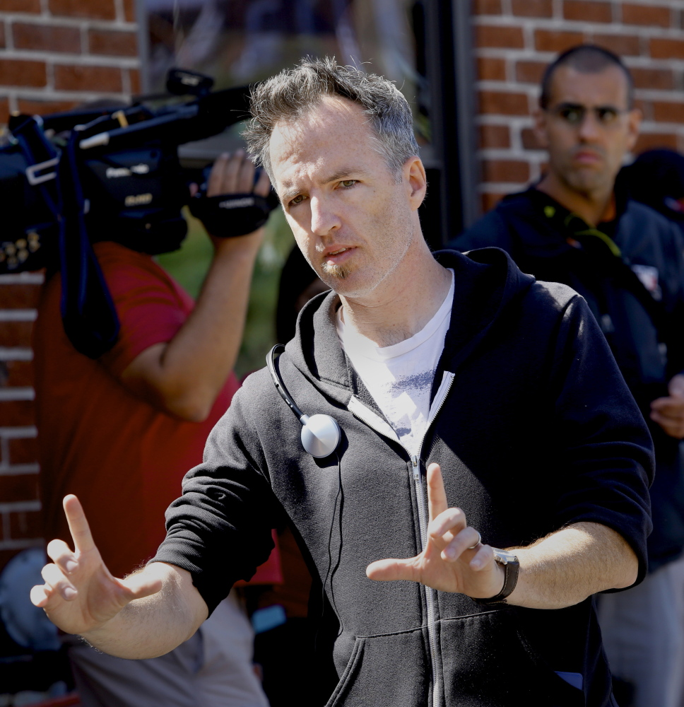 "Derek Davis/Staff Photographer Local filmmaker Kyle Rankin works on the set of his new film ""Night of the Living Deb,"" which is being shot in Portland."