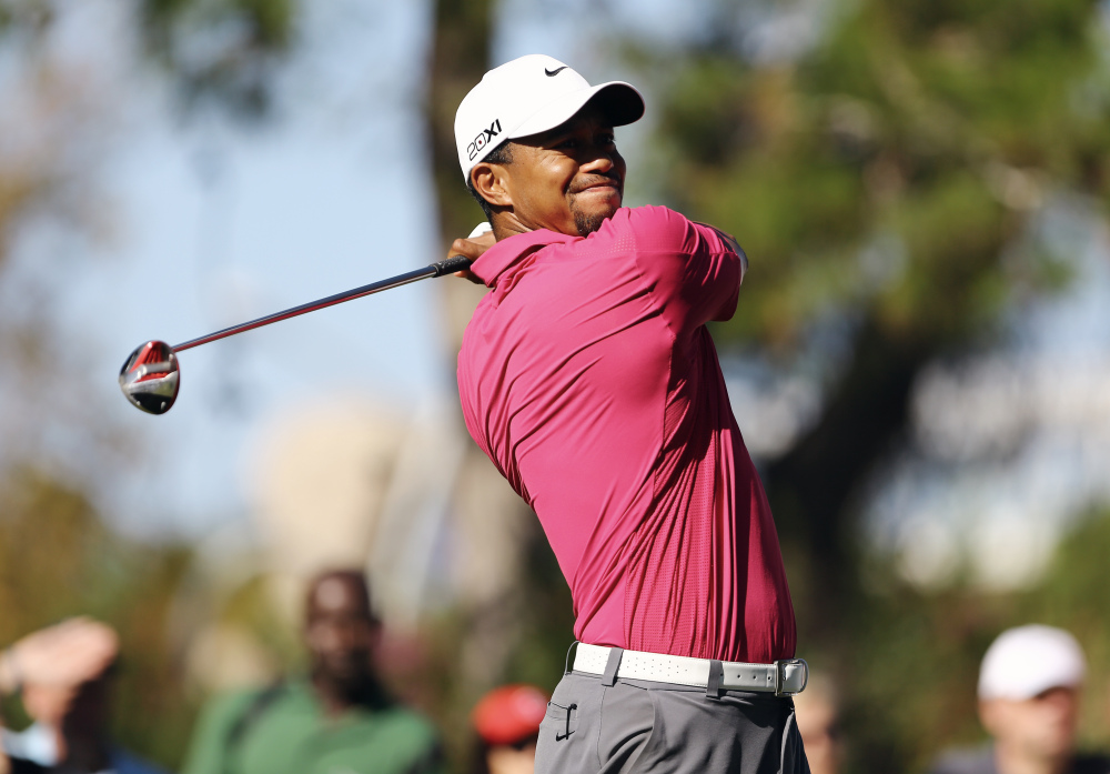 Tiger Woods tees off during the fourth round of the Turkish Open golf tournament in Antalya, Turkey in November.