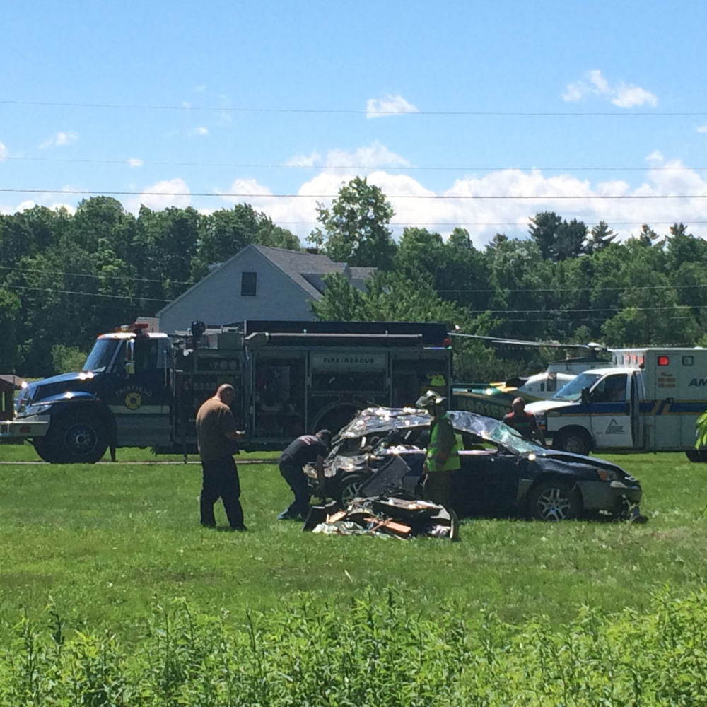 A Clinton man was seriously injured when his car crashed into trees on Bellsqueeze Road in Clinton on Thursday.