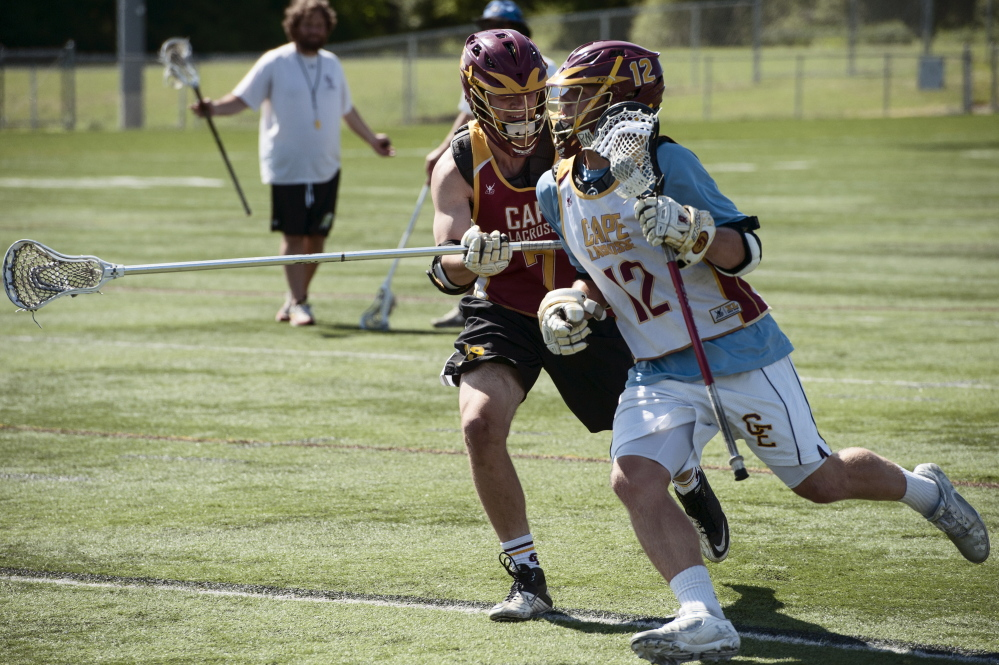 Griffin Thoreck, a junior midfielder, only has to look at his family to see what lacrosse has meant to Cape Elizabeth. His father, now the athletic director, played for the Capers in the sport's high school infancy in Maine, and his freshmen twin brothers are on the team.