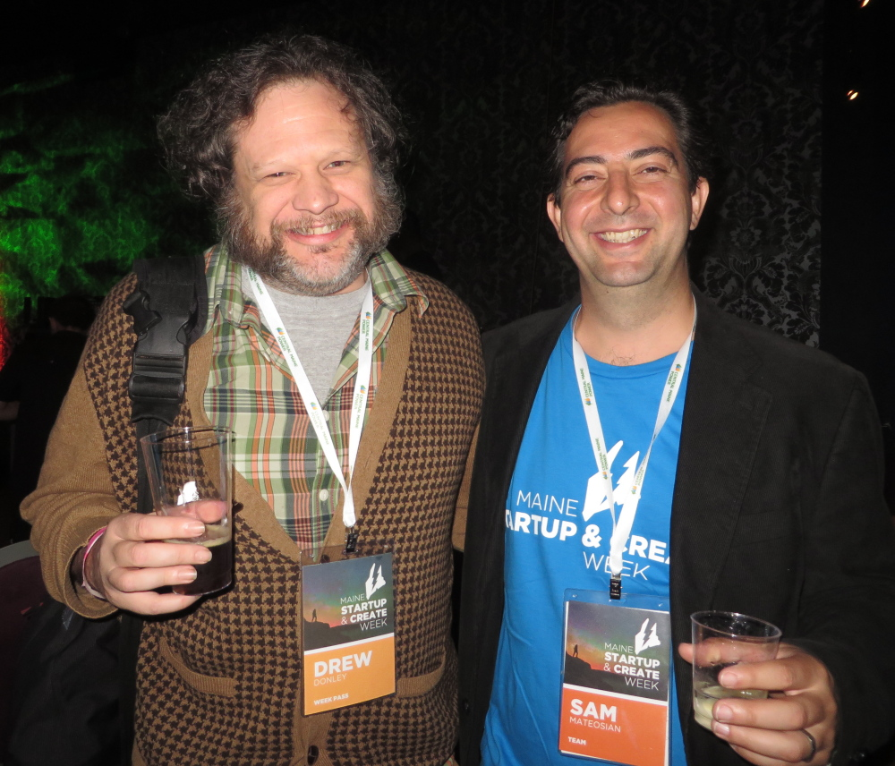 Drew Donley of Harpswell and designer Sam Mateosian of Big Room Studios, who did the branding work for MSCW.