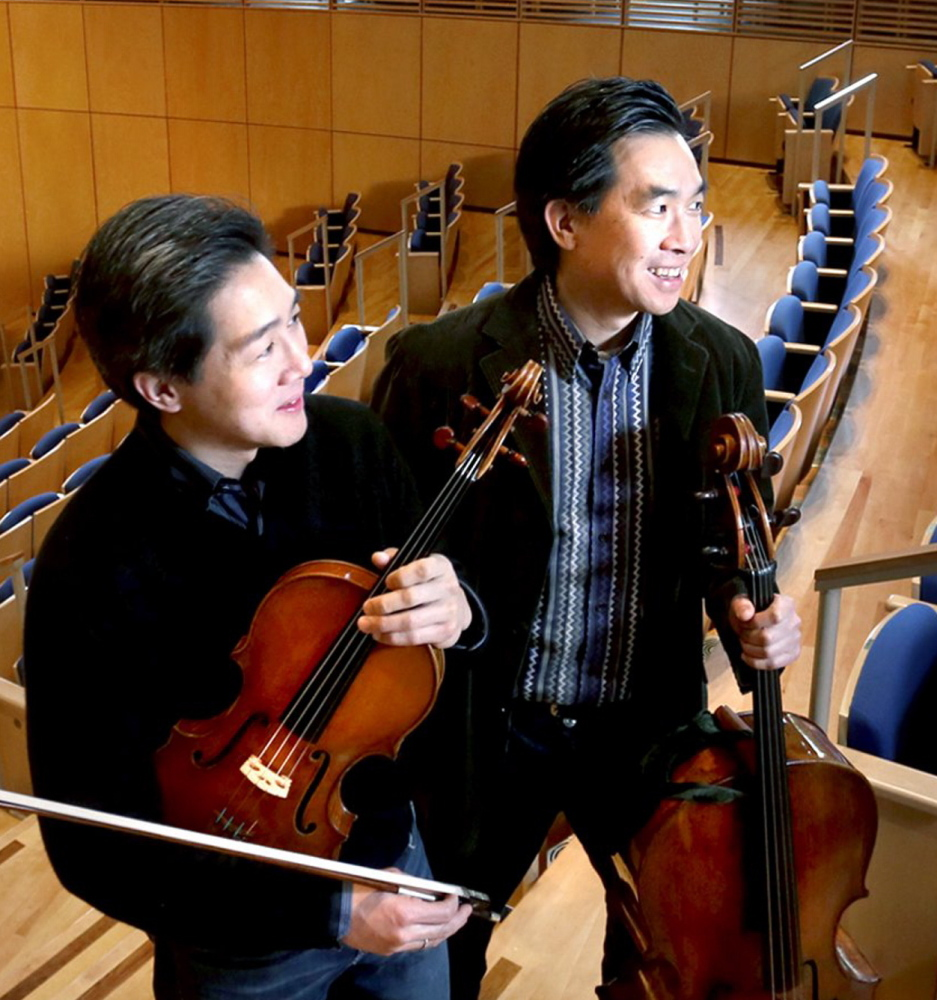 Phillip, left, and David Ying will take over for Lewis Kaplan as co-directors of the Bowdoin International Music Festival. The festival, which Kaplan co-founded, begins its 50th-anniversary season on June 30. Telegram file photo