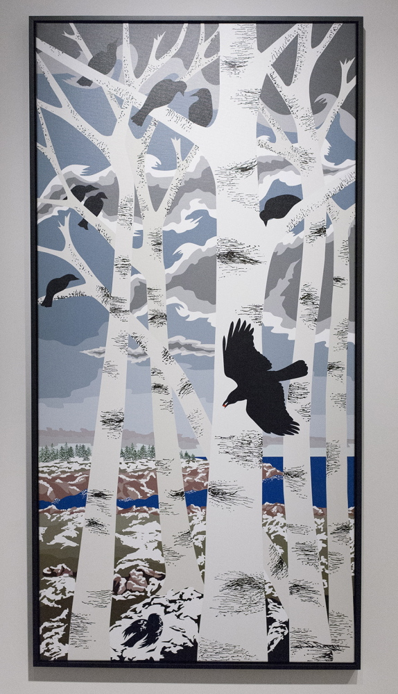 "Jane Davis Doggett's ""White Birches/Black Crows."" Courtesy photo"