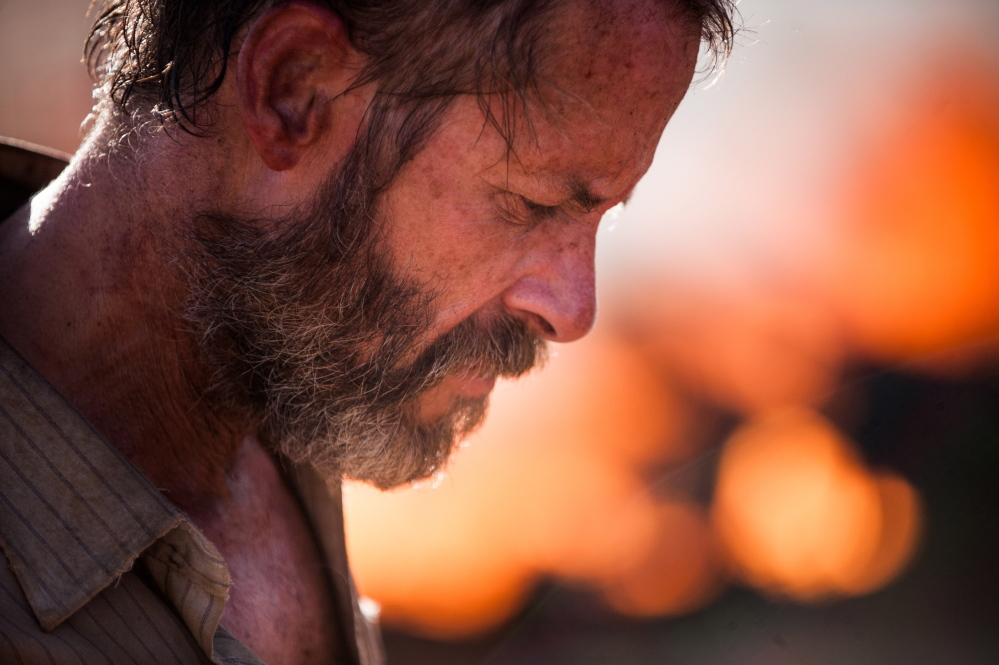 "Guy Pearce in ""The Rover."" A24 Films"