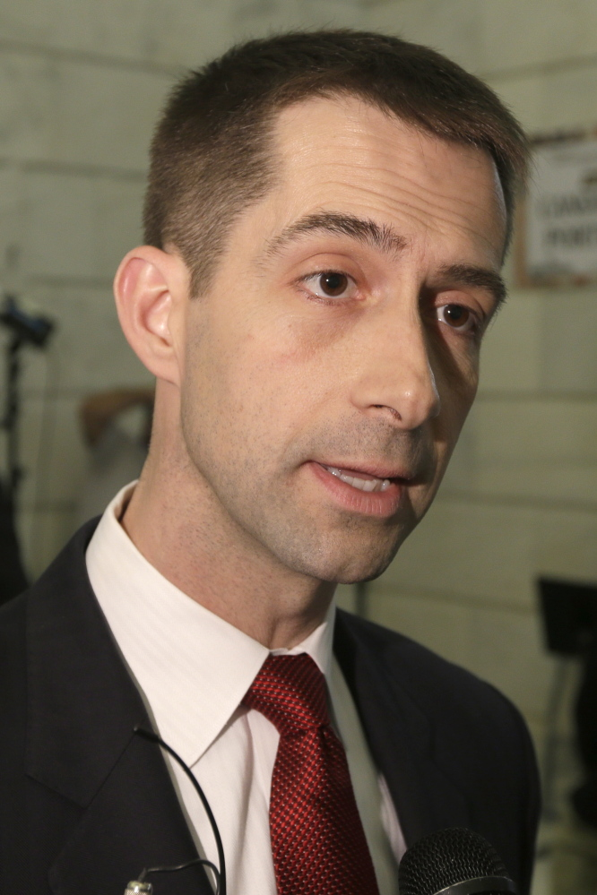 U.S. Rep. Tom Cotton, R-Ark., sponsored an amendment that would effectively bar for one year the transfer of Guantanamo detainees to another country.