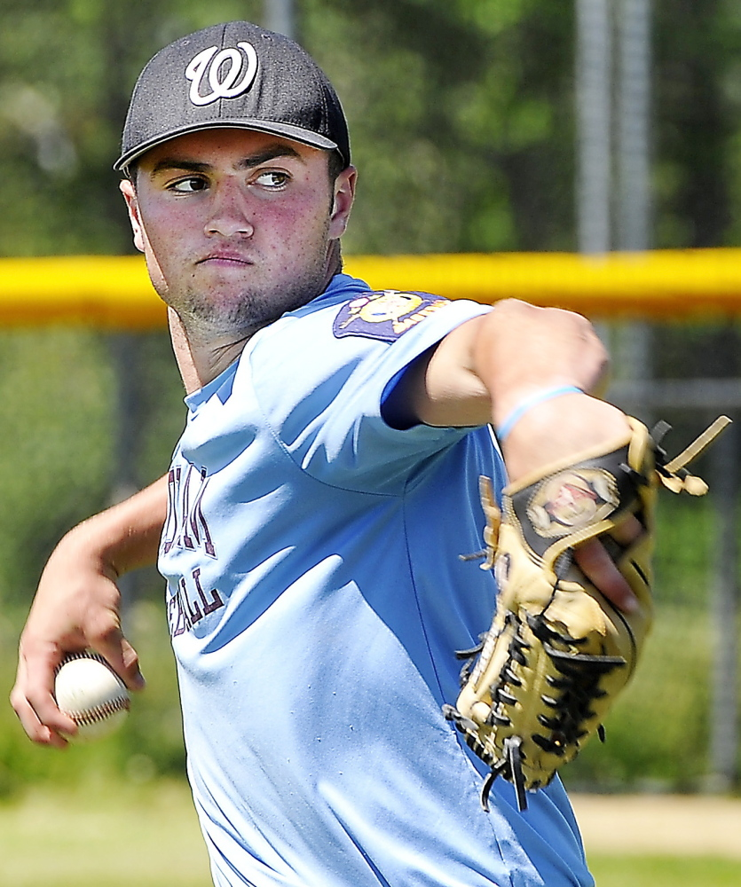Spencer Hodge, who already has two playoff victories this year, will be on the mound Saturday for Windham in the Class A state championship game against Bangor.