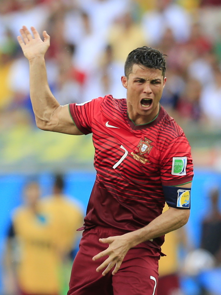 Cristiano Ronaldo of Portugal, which plays the U.S. in a World Cup game Sunday night, is the reigning world player of the year – the second time he's won the award – and has scored at least 50 goals for four straight years for Real Madrid, the top team in Europe.