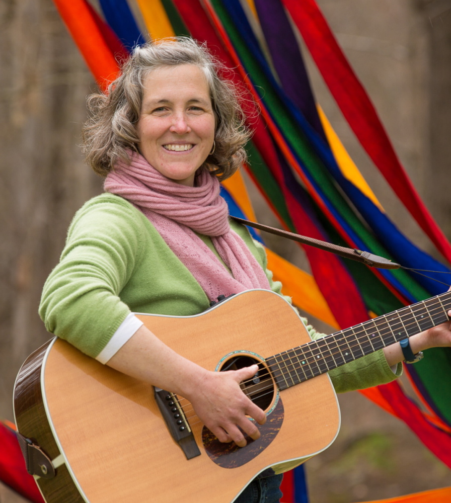 Annie Nixon, a local singer and songwriter, will give a children's concert in Damariscotta on Saturday.