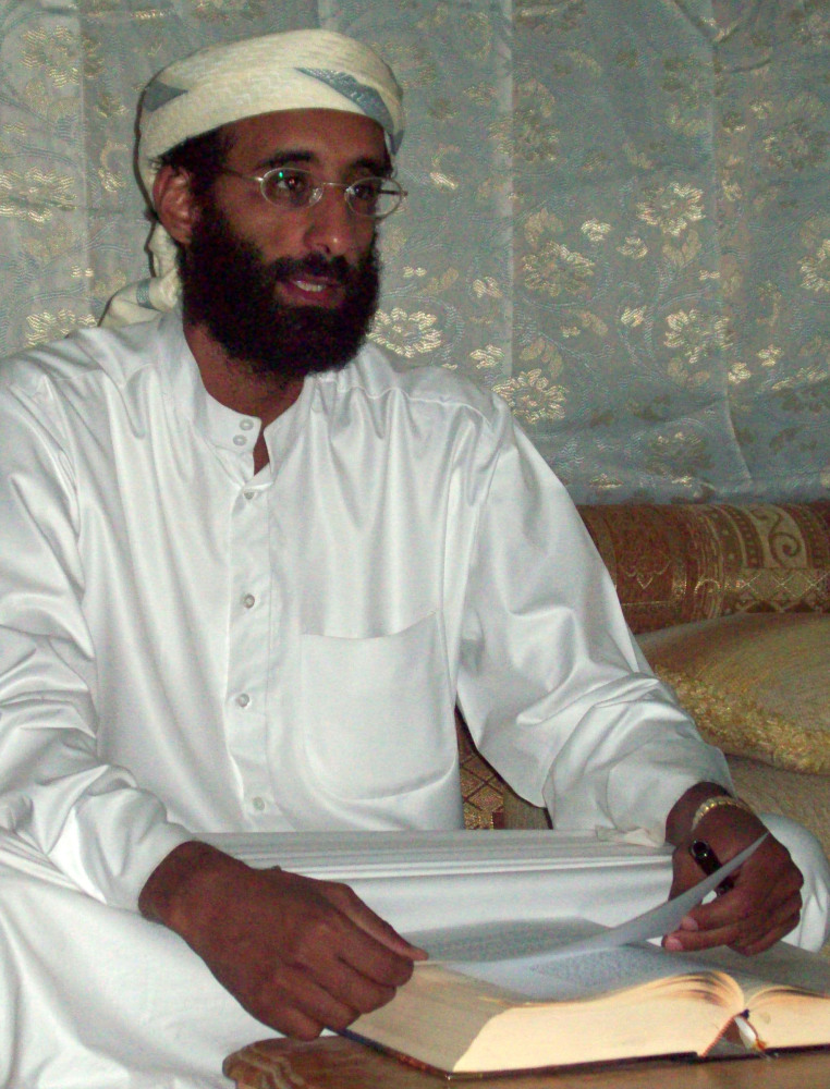 Photo shows Imam Anwar Al-Awlaki. A September 2011 drone strike in Yemen killed Al-Awlaki, an al-Qaida leader born in the United States.