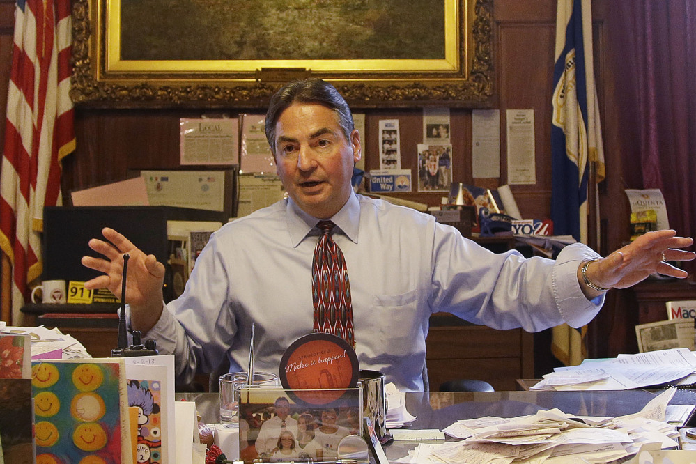 Springfield, Mass., Mayor Domenic Sarno reiterates the position he has taken with the U.S. State Department against accepting any more resettled refugees in his city.