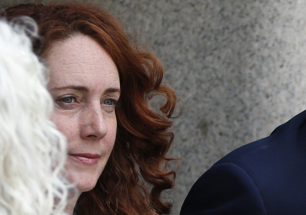 Rebekah Brooks, former News International chief executive, leaves the Central Criminal Court in London, on Tuesday.