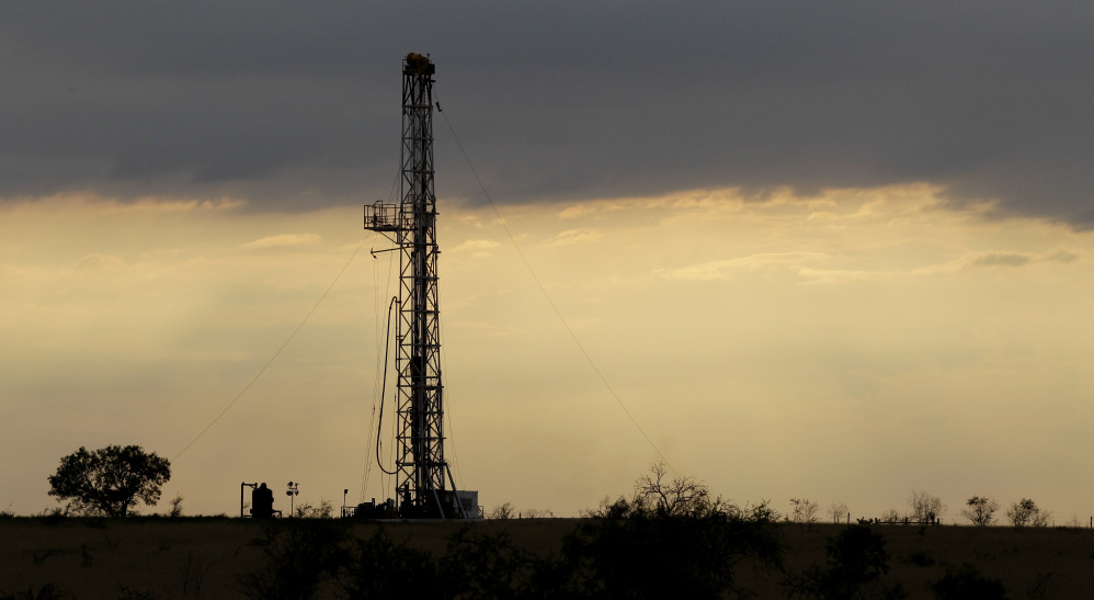 A drilling rig near Kennedy, Texas, in 2012.