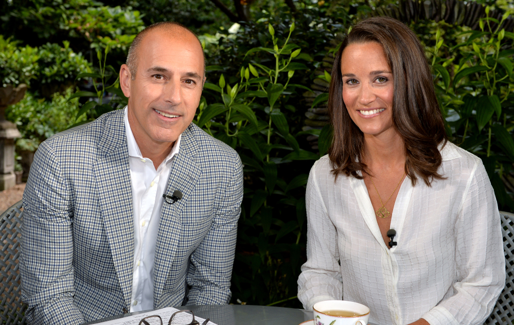 "Matt Lauer, co-host of the ""Today"" show, interviews Pippa Middleton, sister of Princess Kate, in London last week."