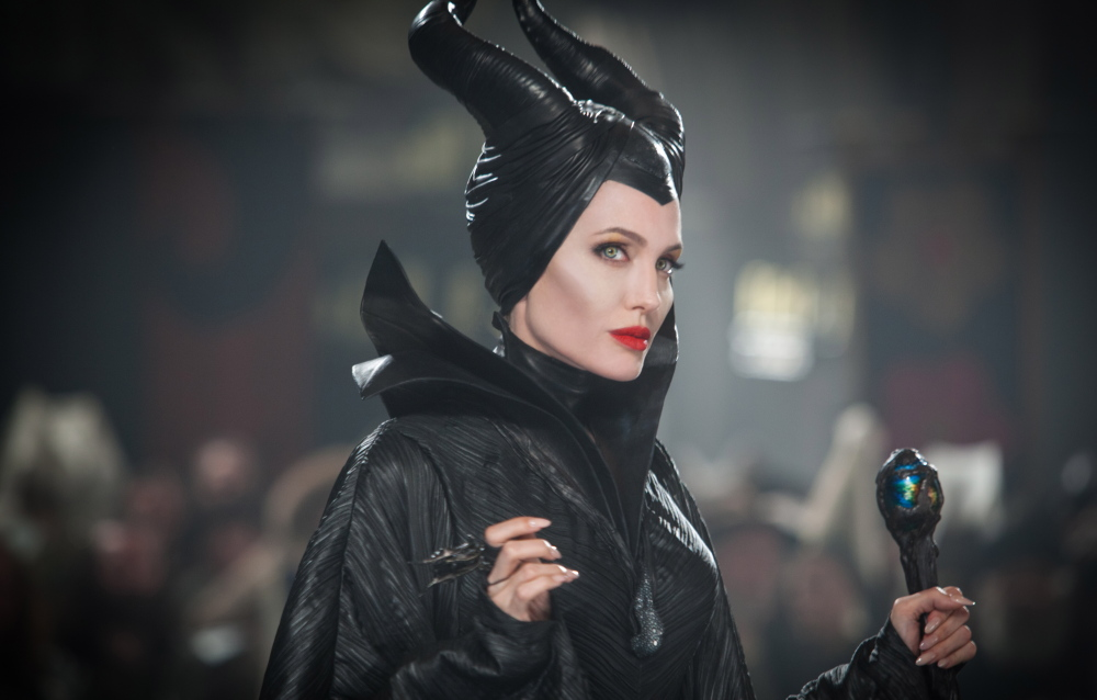 "Photo released by Disney shows Angelina Jolie in a scene from her new film, ""Maleficent."" The Associated Press"
