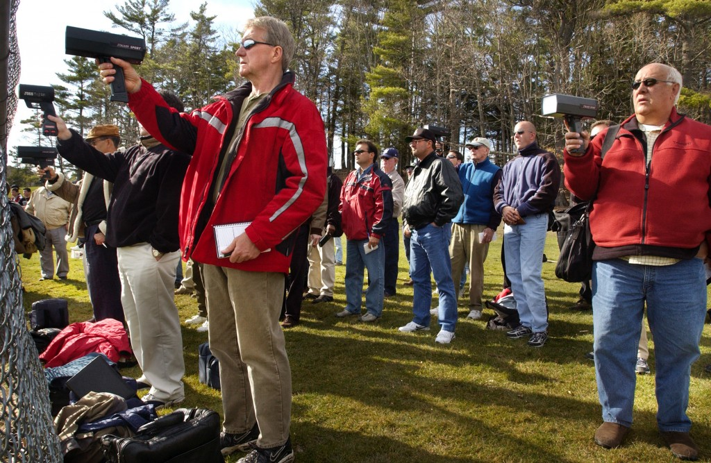 More than 20 baseball scouts, radar guns in hand, showed up for Mark Rogers' season-opening debut as a senior at  Mt. Ararat in 2004.  2004 staff file photo