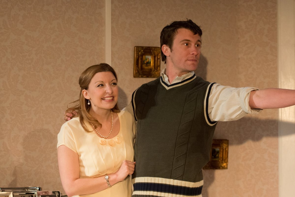 Anna Gravel as Edie Beale and Nicholas Schroeder as Joseph Patrick Kenned, Jr. Courtesy photo