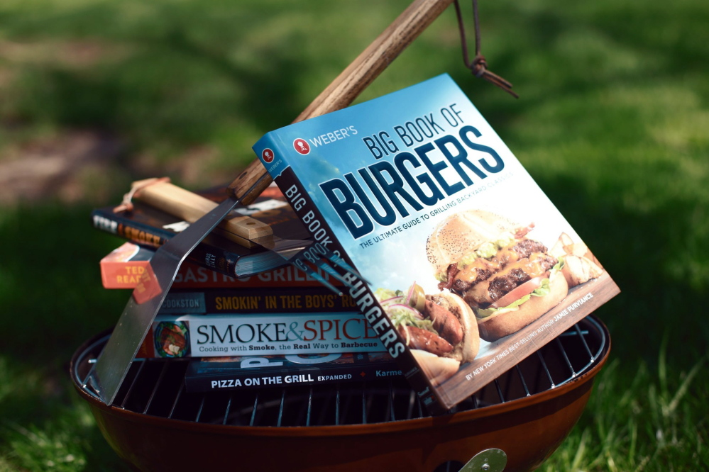 A pile of new cookbooks provides more than a season's worth of recipes and tips for grilling everything from pizza to vegetables, seafood and, of course, a variety of meats.