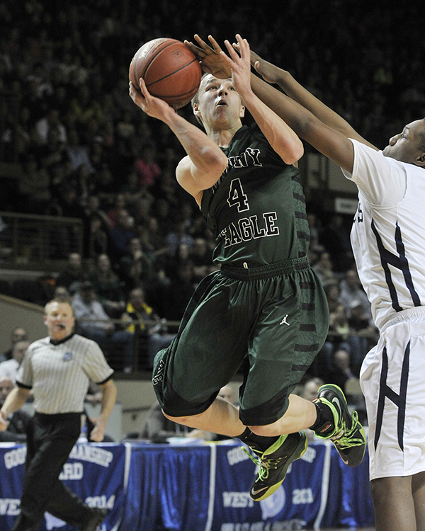 Boys' Basketball: Dustin Cole from Bonny Eagle High School.