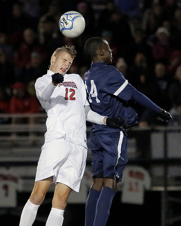 Boys' Soccer: Wyatt Omsberg from Scarborough High School.