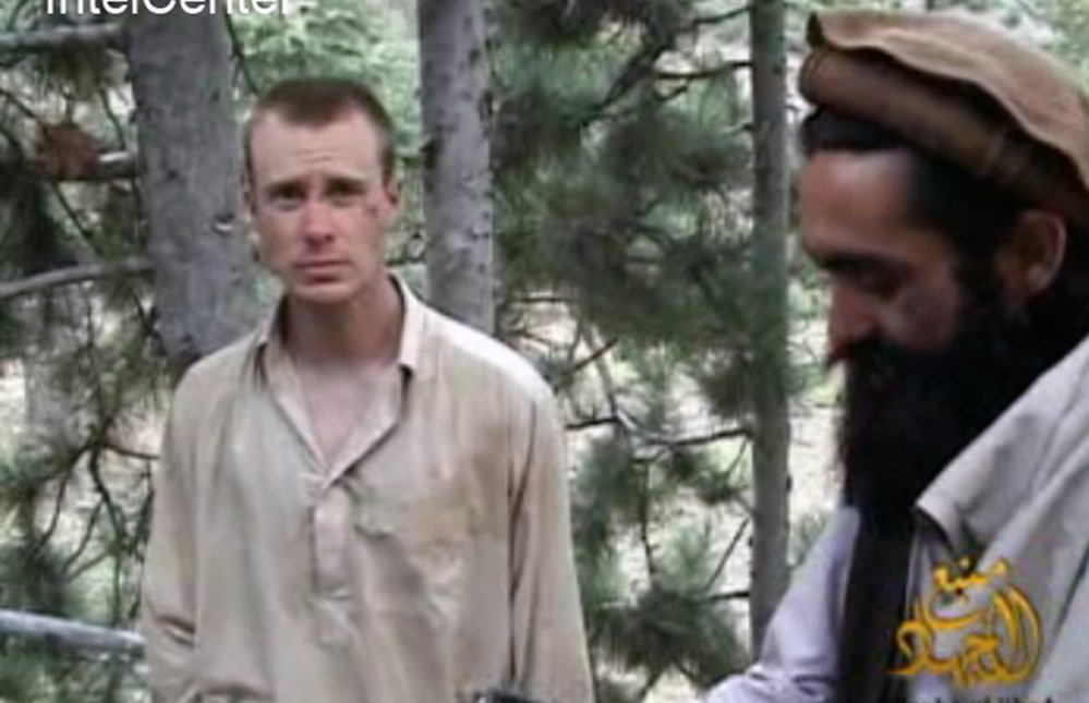 The Associated Press Bowe Bergdahl, left, is shown in Taliban captivity during 2010. The United States mentioned a possible prison swap to the Taliban as early as 2011. An unnamed source says the United States' impending withdrawal from Afghanistan prompted the recent trade.