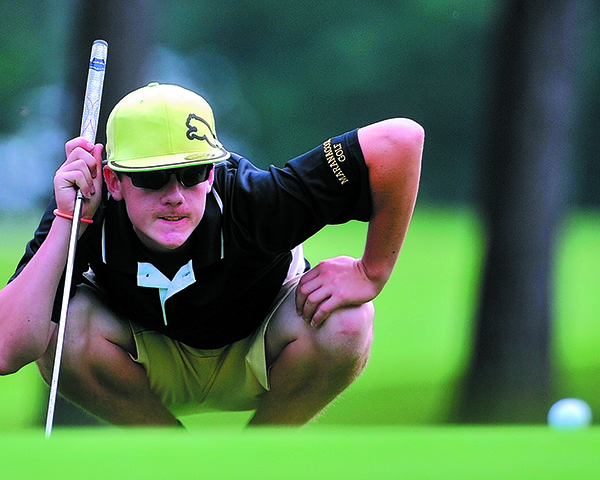 Boys' Golf: Luke Ruffing from Maranacook High School.
