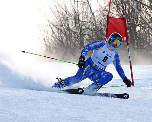 Girls' Skiing: Elise Luce from Mt. Abram High School.