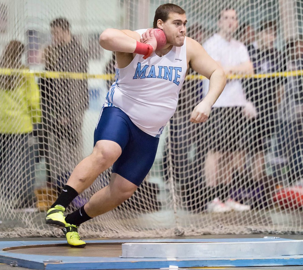 Justin Gagne is leaving UMaine as the record-holder in the shot put and discus. Courtesy photo