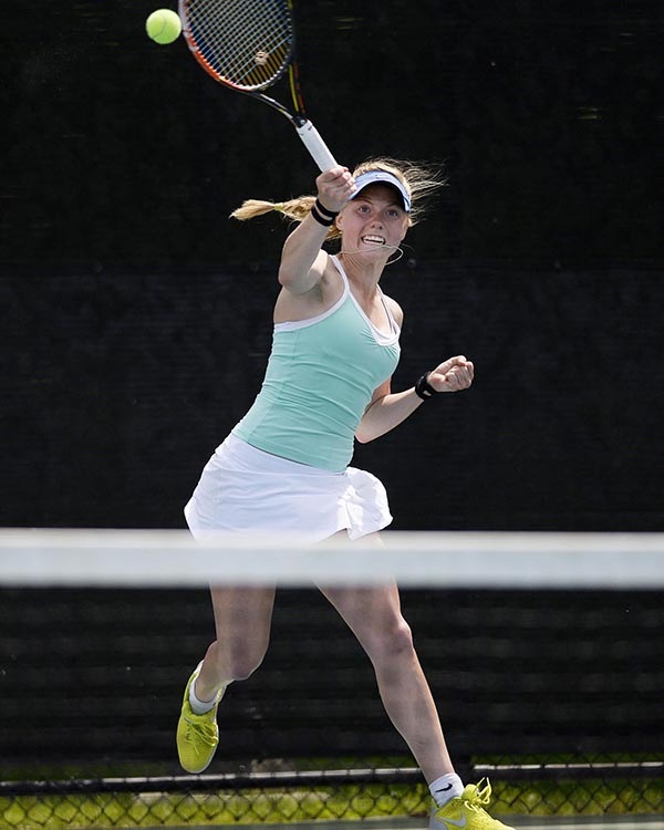 Girls' Tennis: Olivia Leavitt from Falmouth High School.