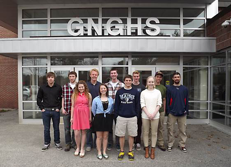 Front Row, left to right: Jaime Boulos, Alexandra Stash, Mitchell Giles, Josephine Heston, Back Row, left to right: Benjamin Coleman, Bryce Neal, Will Shafer (valedictorian) Casey                                            Myhaver (saluatorian), Joshua Harper, Paul Phillips, Tyler Credit