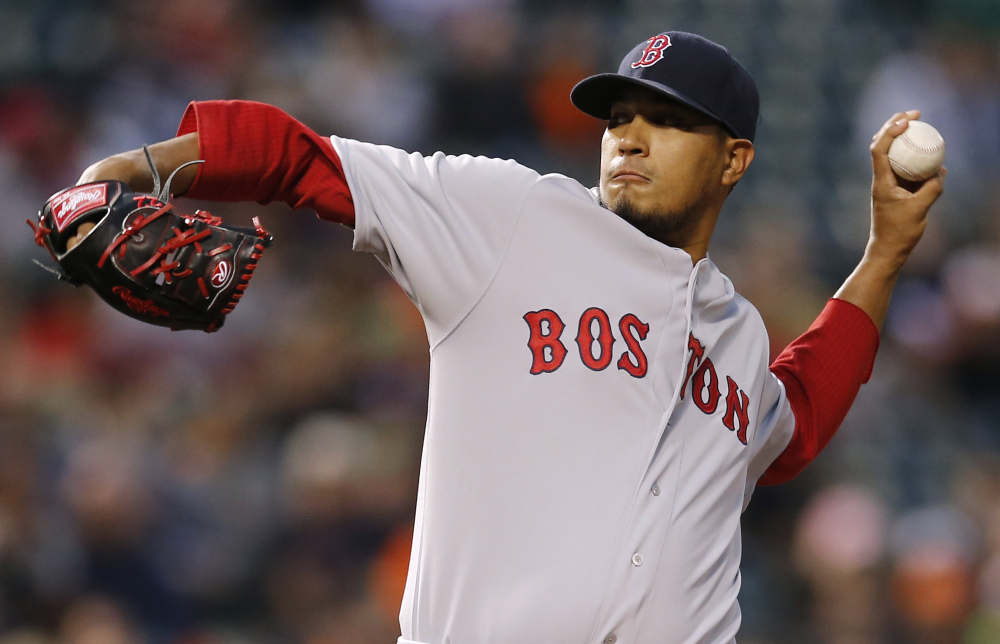 The Associated Press Boston Red Sox starting pitcher Felix Doubront throws during a game in April. Doubront will pitch for the Sea Dogs on Thursday, according to media reports