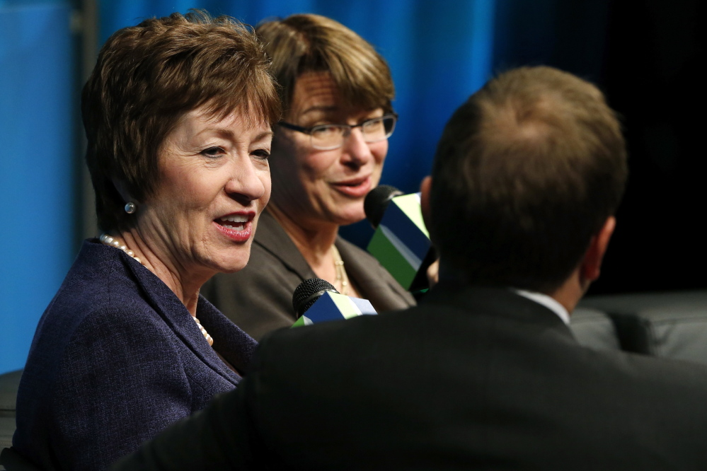 2013 Reuters File Photo U.S. Sen. Susan Collins, R-Maine, is among those winning the backing of a gun-control group led by former U.S. Rep. Gabrielle Giffords and her husband, former astronaut Mark Kelly.