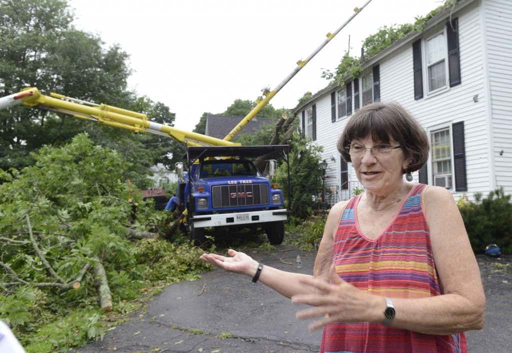 Joan Williamson is one of two tenants living at 158 York St. in York, which was hit by a large tree as a severe storm hit York on Tuesday night.