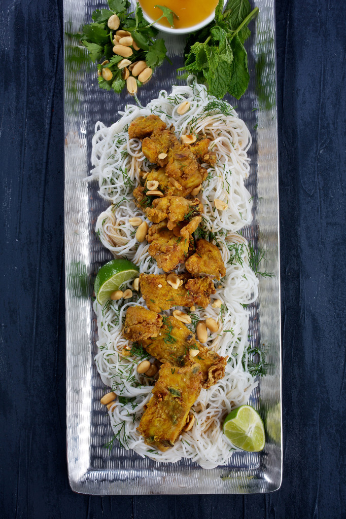 Hanoi-Style Fried Fish With Turmeric and Dill
