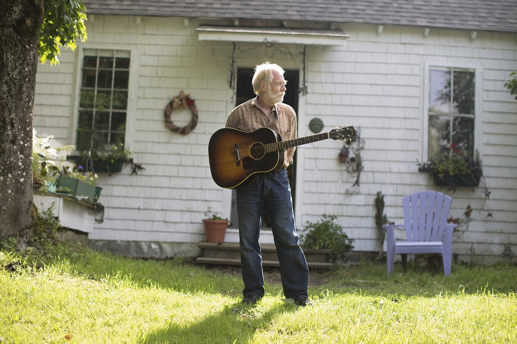 Musician Dave Mallett at his home in Sebec.