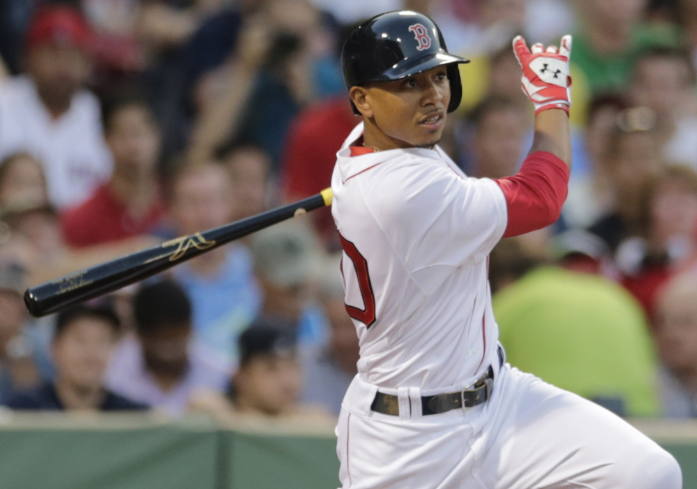 Mookie Betts was called up to the Boston Red Sox after just 73 games above Class A. He is 1 for 6 with a run scored and a run scored in two starts for the Red Sox.