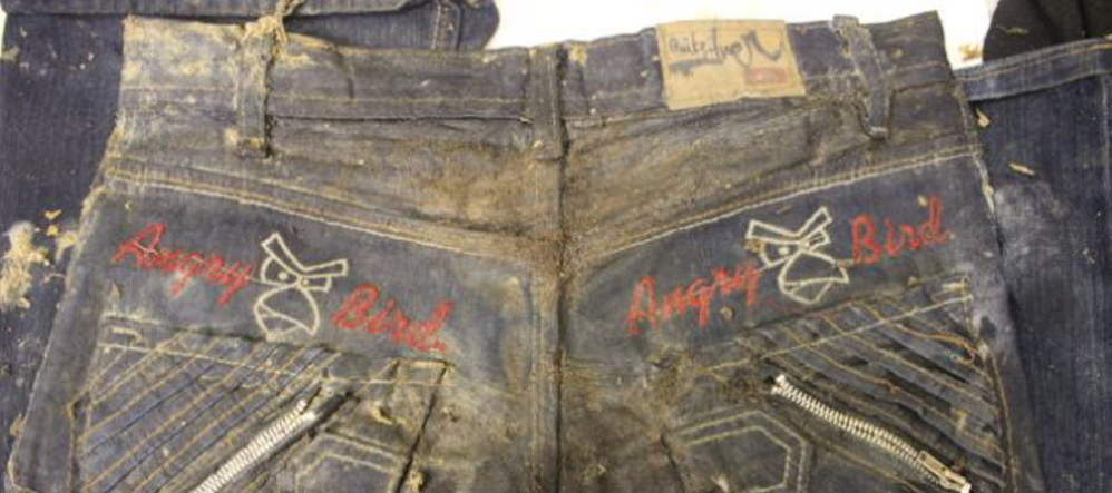 Officials released a photo of the 'Angry Birds' jeans worn by 11-year-old Gilberto Francisco Ramos Juarez, whose decomposed body was found in South Texas in early June.