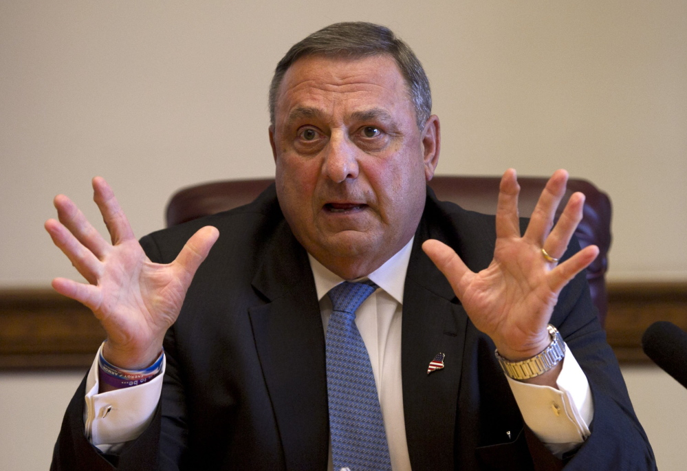 Gov. Paul LePage has launched a phone campaign to address a controversy over a news release from his administration.