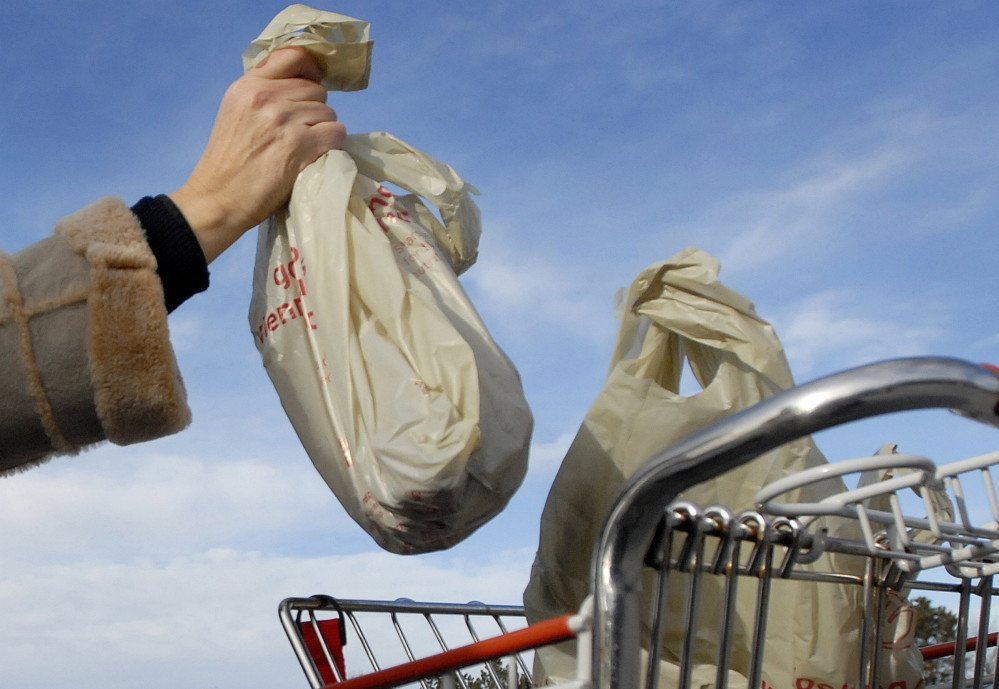 The town of Freeport is considering a proposal to ban stores from using most plastic bags.