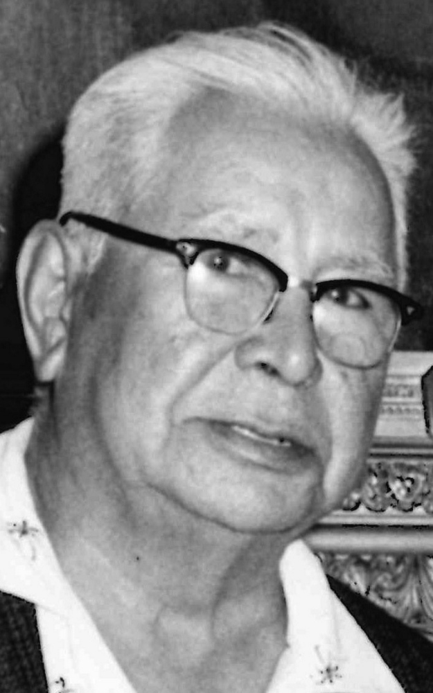 George Francis in July 1964. Governor of Pleasant Point in the early 1960s, Francis was a tireless and forceful advocate for the Passamaquoddy people against the State of Maine. Press Herald file photo