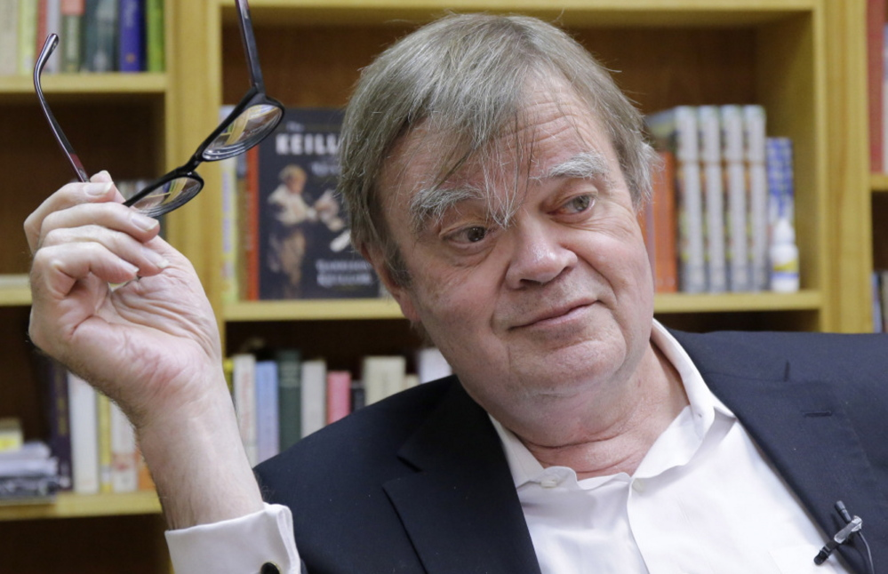 "Garrison Keillor says, ""I avoid getting choked up"" as he approaches the 40th anniversary of ""Prairie Home Companion."""