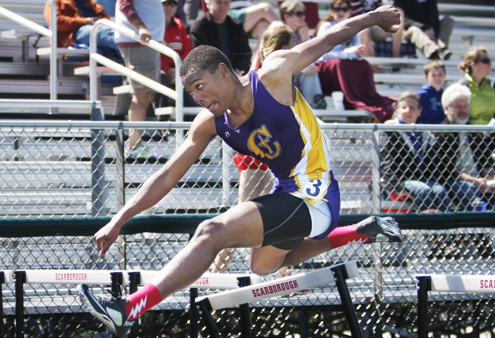Isaac Yeboah, who was plagued by injuries for so much of his Cheverus High career, came back in his senior season to win two individual hurdle events and take part in two relay championships, helping the Stags win the Class A state title, ending a 16-year drought.