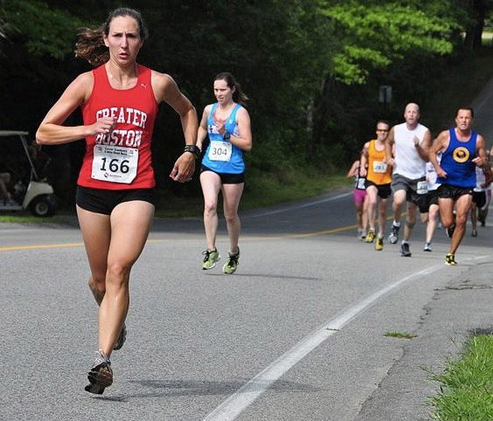 "Gretchen Speed, left, of Portland, was a finalist in Runner's World magazine's ""The Best Name in Running"" contest."