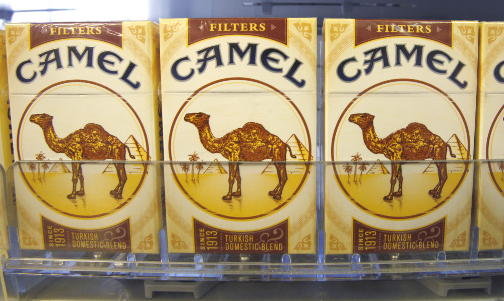 Camel brand cigarettes from Reynolds American Inc., are displayed at a tobacco product store in Cranberry, Pa.