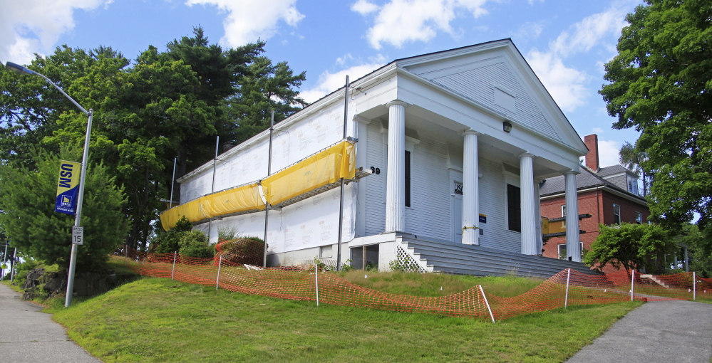 A renovation at the art gallery, a historic building on the USM campus in Gorham, is upsetting preservationists.