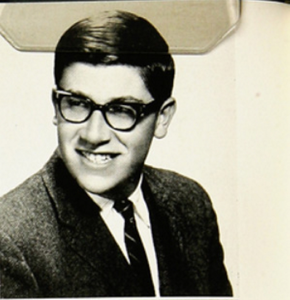 Eliot Cutler's 1964 yearbook photo from Deerfield Academy, a classic New England boarding school.