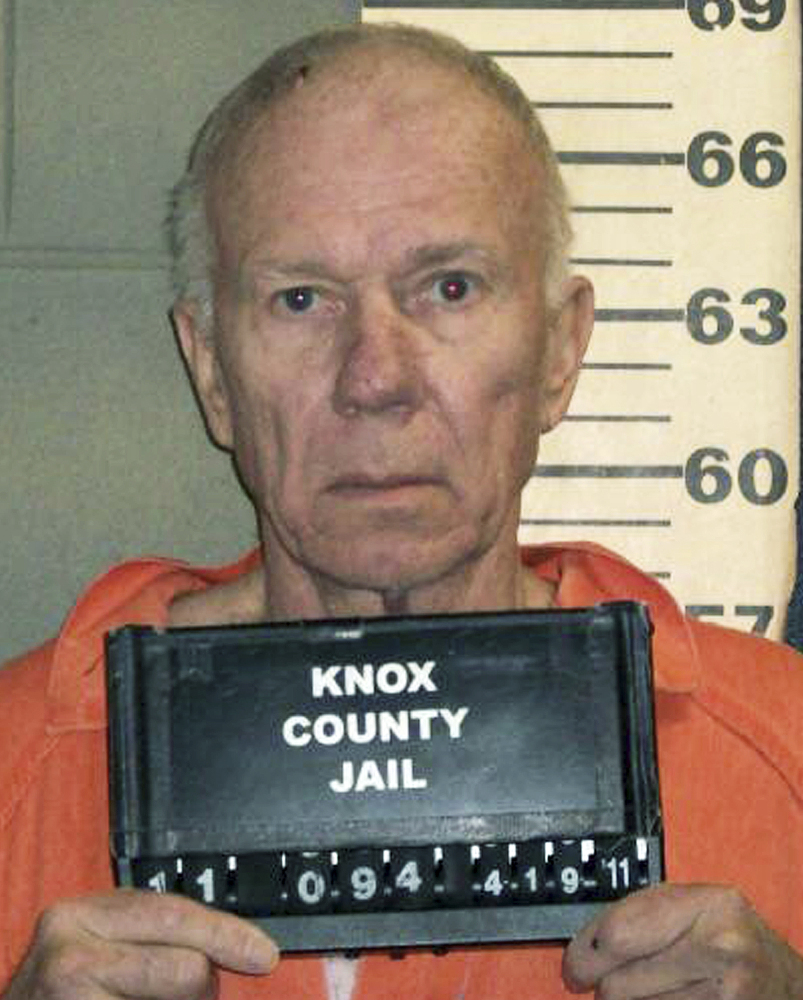 This undated booking photo released by the Knox County Sheriff's Office shows Charles Black, accused of pushing his then-wife Lisa off Maiden Cliff in Maine's Camden Hills State Park in April 2011, in an attempt to kill her and claim a $4 million inheritance.