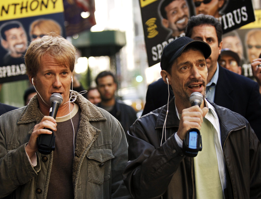"Radio shock jock Anthony Cumia, right, is offering no apologies for what satellite radio company SiriusXM called a hate-filled Twitter rant that got him fired. The former co-host of the ""Opie and Anthony Show"" was let go on July 3 after tweeting his outrage at a woman he said punched him in the face on a New York street."