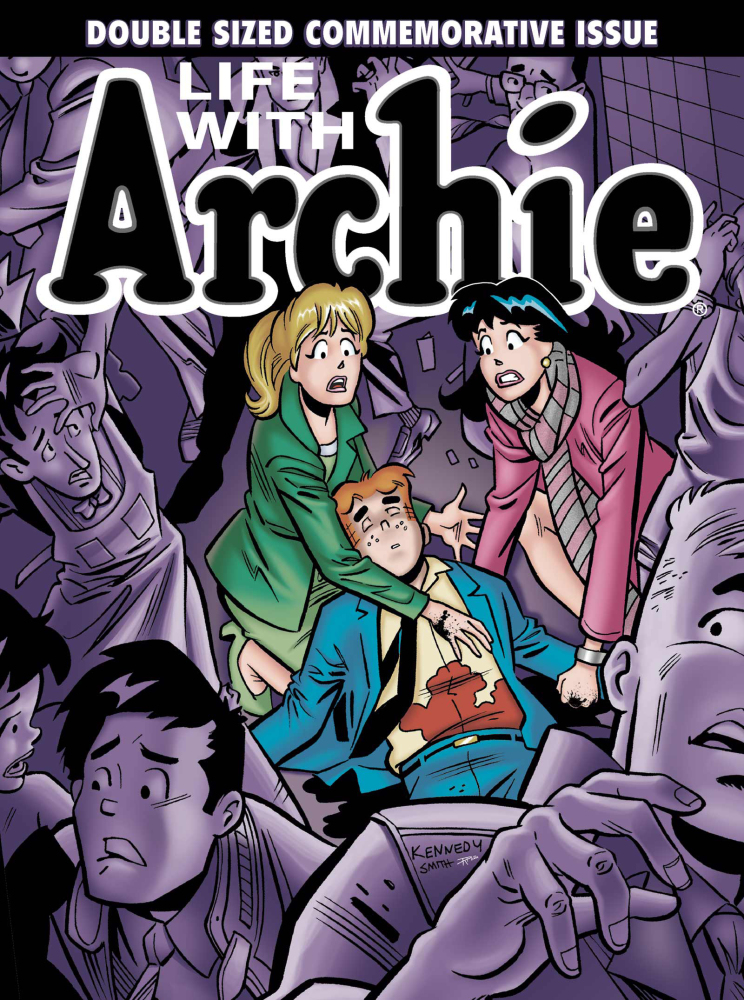 """This image provided by Archie Comics shows the cover of  """"Life with Archie,"""" issue 36.   The Associated Press"""