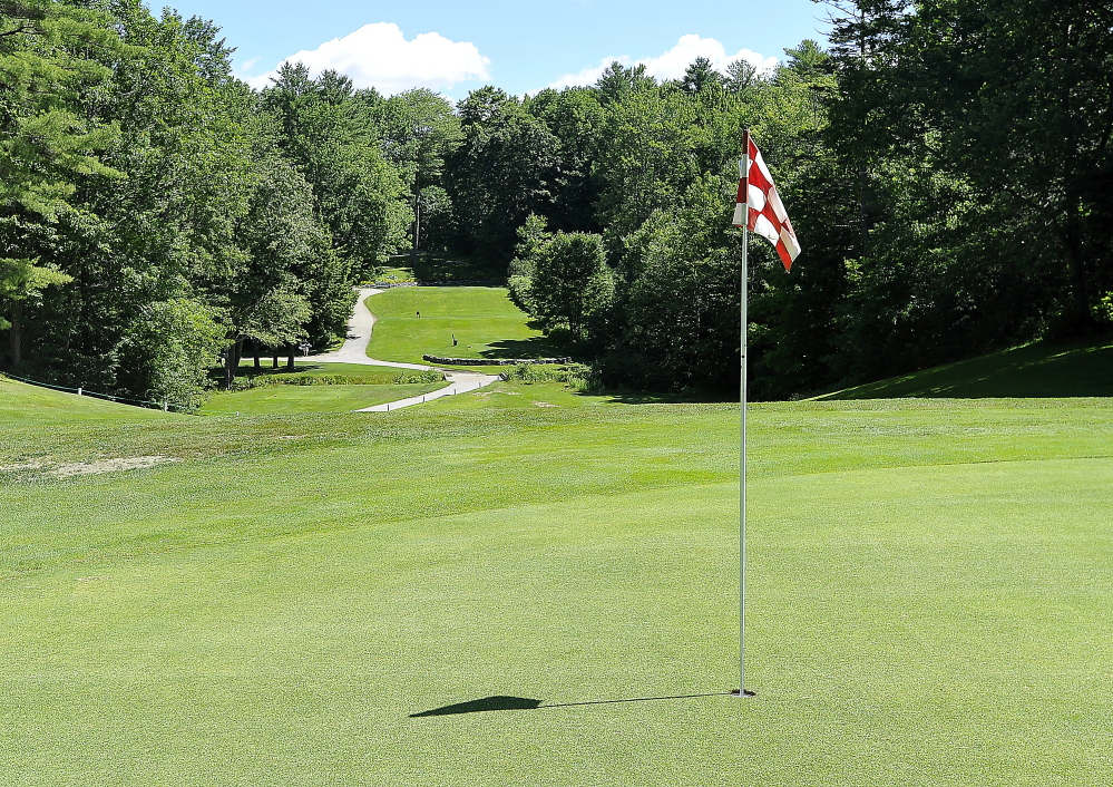 The 17th hole is one of the great closing holes at Val Halla – an uphill par 3 that measures between 180 and 190 yards, depending on the tee placement.